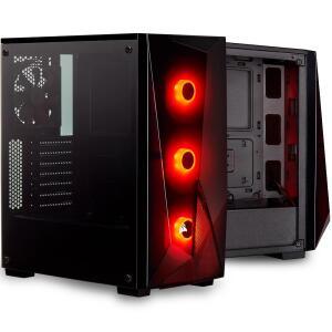 Gabinete Gamer Corsair Carbide Series Spec Delta RGB, Mid-Tower, 3 Fans, Vidro Temperado, Preto | R$360