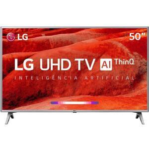 "TV LED 50"" LG Smart TV UM7500 4K 4 HDMI 2 USB 60Hz - R$1899"