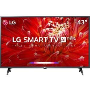 "TV LED 43"" LG Smart TV LM6300 Full HD 3 HDMI 2 USB 60Hz- R$1199"
