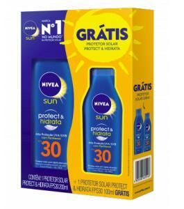 Kit Protetor Solar Corporal Nivea Sun Protect & Hidrata FPS30 R$32
