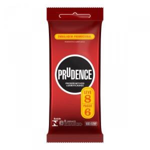 Preservativo lubrificado Prudence Clássico leve 8 pague 6