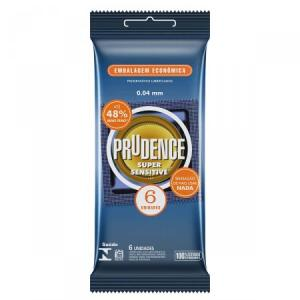 Preservativo Lubrificado Prudence Super Sensitive