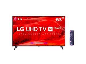 "Smart TV LED 65"" UHD 4K LG 65UM7520PS - R$3134"