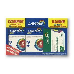 Kit Lavitan AZ Mais 180 Comprimidos - Grátis Lavitan Hair.
