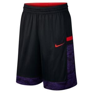 Bermuda Nike Dry Courtlines Print Masculina - Preto e Vermelho R$72