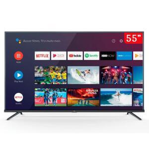 Smart TV LED 55 Polegadas TCL 55P8M 4K UHD HDR com Android, Bluetooth e Comando de Voz