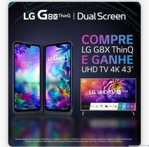 "Compre LG G8X ThinQ e ganhe UHD TV 4K 43"""