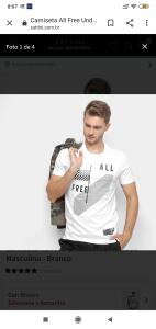 Camiseta All Free Undefeated Attitude Masculina - Branco