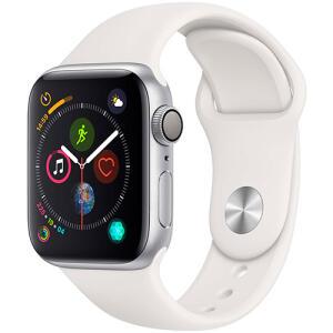 AME + CC AMERICANAS POR 1575,00 Watch Series 4 GPS 40mm Prata Case With Branco Sport Band - Apple