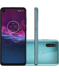 "Smartphone Motorola One Action 128GB Dual Chip Android Pie 9.0 Tela 6.3"" Exynos 9609 (S925) 4G Câmera 12+5+16MP - Aquamarine"