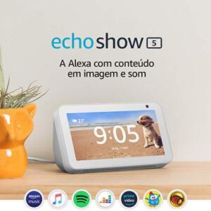 """Echo Show 5 - Smart Speaker com tela de 5,5"""" e Alexa - Cor Branca R$ 399"""