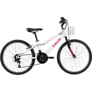 [R$426 Ame + CC Americanas] Bicicleta Caloi Ceci - Tam 12 - Aro 24 - 21v - Branco Perolizado R$449