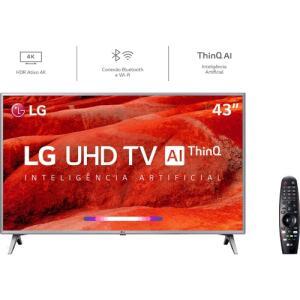 [AME R$1349] Smart TV Led 43'' LG 43UM7500 Ultra HD 4K Thinq AI | R$1500
