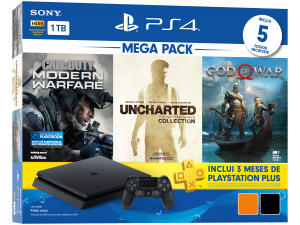 Playstation 4 1TB 1 Controle Sony - com 3 Jogos | R$1.699