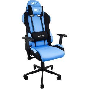 Cadeira Gamer MX6 Giratória Azul com Preto - Mymax - R$468