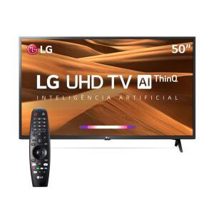 Smart TV LG 50 Polegadas 4K 50UM7360PSA | R$ 1664