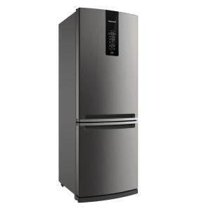 Geladeira/Refrigerador Brastemp Duplex 2 Portas BRE57 Frost Free 443L - Inox Evox - R$2499