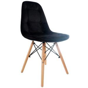 Cadeira Eames Velvet Preta (PRIMEIRA COMPRA) R$56