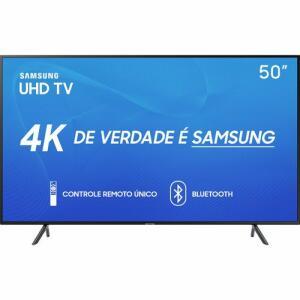 "Smart TV LED 50"" Samsung 50RU7100 Ultra HD 4K com Conversor Digital 3 HDMI 2 USB Wi-Fi Controle Remoto Único e Bluetooth"