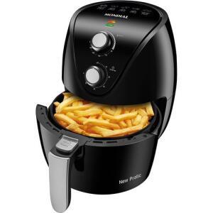 Fritadeira Elétrica Sem Óleo Mondial Air Fryer New Pratic 3,5L Preta - 127v
