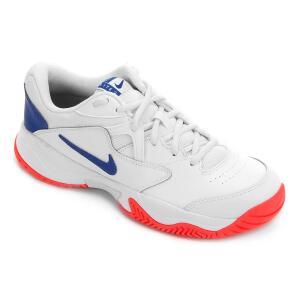 Tênis Nike Court Lite 2 Masculino - Branco e Azul Royal R$190