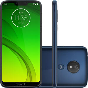 "Smartphone Motorola Moto G7 Power 64GB Dual Chip Android Pie - 9.0 Tela 6.2"" 1.8 GHz Octa-Core 4G Câmera 12MP - Azul Navy - R$799"