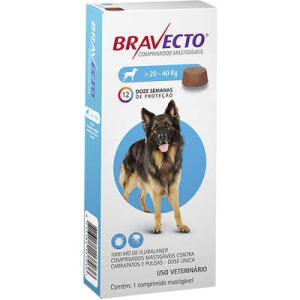 [R$168,21 para assinantes] Antipulgas e Carrapatos MSD Bravecto para Cães de 20 a 40 Kg - R$187