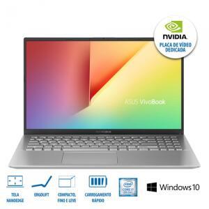 [R$2397 1x CC + AME] ASUS Notebook VivoBook X512FJ-EJ228T Prata Metálico FULL HD | R$2818