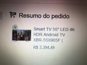 "Smart TV Sony 55"" 4K XBR X905F"