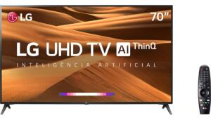 [10xS/J] VOLTOUU Smart TV LED 70'' LG 70UM7370 Ultra HD 4K Thinq AI - R$3699
