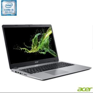 Notebook Acer, Intel Core I5 8265U, 8GB, 1TB + 128SSD, NVIDIA GeForce MX130 com 2GB, Aspire 5, Prata - A515-52G-50NT
