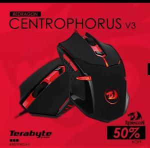 Mouse Gamer Redragon Centrophorus M601-3, 3200 DPI R$ 44,90