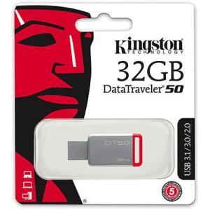 Pen Drive 32gb USB 3.0 DT50 Kingston BT 1 UN