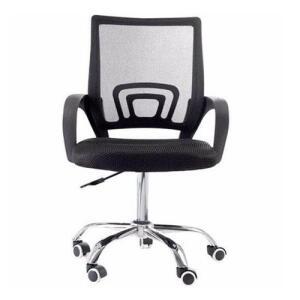 Cadeira Giratória Com Base Cromada - Preta - Mb-6010