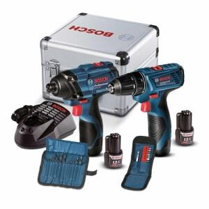 [R$545 AME + APP] Kit Bosch   Furadeira E Parafusadeira Gsr 120-li + Chave De Impacto Gdr-120   R$565