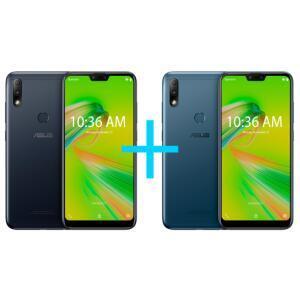 Zenfone Max Plus (M2) 3GB/32GB Preto + Zenfone Max Plus (M2) 3GB/32GB Azul   R$999