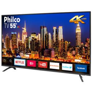 "[R$1.298 AME] Smart TV LED 55"" Philco PTV55F61SNT UHD 4K - R$1.529"