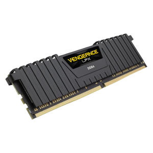 Memória DDR4 - 8GB (1x 8GB) / 3.000MHz - Corsair Vengeance LPX Black - R$200
