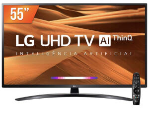 Smart TV LED PRO 55'' Ultra HD 4K LG 55UM 761 4 HDMI 2 USB Wi-fi Conversor