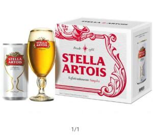 Kit Cerveja Stella Artois- 269ml - 8 Unidades e 1 Taça