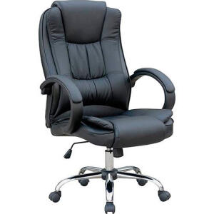 Cadeira Presidente MB-C730 Giratória Base Cromada - Travel Max | R$305