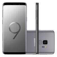 "Smartphone Samsung Galaxy S9 128GB Cinza Tela 5.8"" Câmera 12MP Android 8.0"
