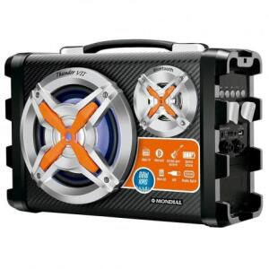 Caixa Amplificadora Mondial MCO-07, Entrada USB e SD, Bluetooth, Rádio FM, 80W RMS - R$129