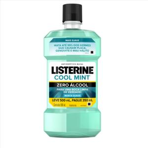 Antisséptico Bucal Listerine Zero 1,5l - 2 Unidades R$32