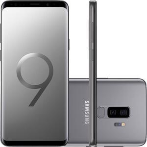 "(SEM JUROS) Smartphone Samsung Galaxy S9+ Dual Chip Android 8.0 Tela 6.2"" Octa-Core 2.8GHz Cinza"