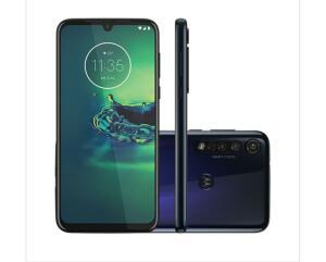 "Smartphone Motorola G8 Plus 64GB Azul Safira Tela 6,3"" Câmera Tripla 48MP"