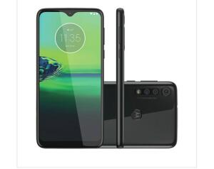 "Smartphone Motorola G8 Play 32GB Preto Ônix Tela 6,2"" Câmera Tripla 13MP Selfie 8MP"