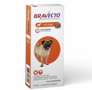 Antipulgas Bravecto Oral 250mg Cães 4,5 a 10kg