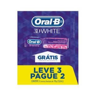 Leve 3 Pague 2 - Creme Dental Oral-B 3D White - 70g