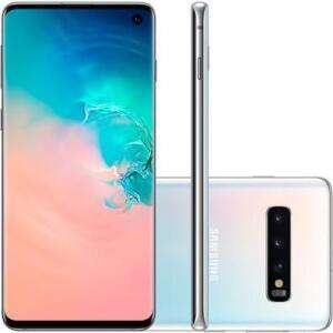 Smartphone Samsung Galaxy S10, 128GB, 16MP, Tela 6.1´, Branco